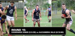 Round 15: Coorparoo vs Alexandra Hills