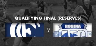 Qualifying Final - Reserves vs Robina